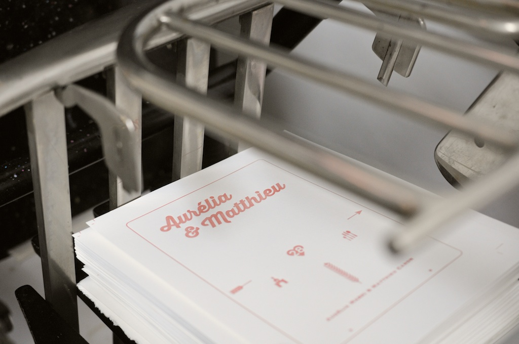 Letterpress en cours d'impression